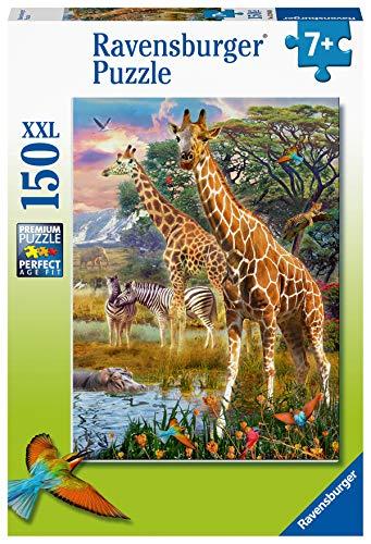 Ravensburger Puzzle 12943 Kleurrijke savanne Ravensburger Kinderpuzzle 12943-Bunte 150 Teile XXL-Puzzle für Kinder ab 7 Jahren, Silver
