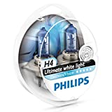 Philips Diamond Vision H4 Upgrade Car Headlight Bulbs 5000K 12342DVS2 (Pair)