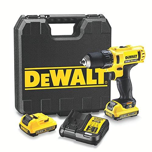 DEWALT DCD710D2-QW - Taladro Atornillador XR 10.8V, 24 Nm, con 2 baterías de litio 2Ah y maletín TSTAK