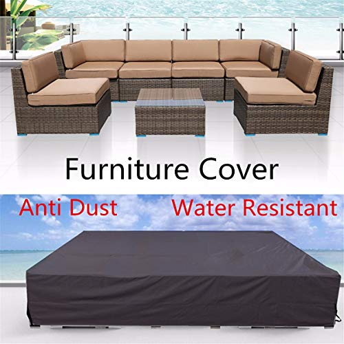 BCGT Cubierta Impermeable de Muebles for el jardín de la Rota Tabla Cubo sofá de la Silla de Uso múltiple de la Prueba del Polvo Funda Protectora del Patio al Aire Libre