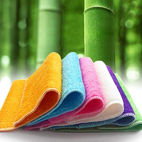 HONGIRT - Juego de 3 paños de limpieza de fibra de bambú para muebles de baño, limpieza de suelo y coche multifunción