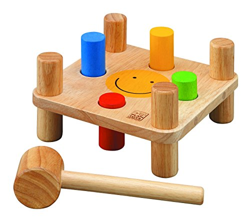 Plan Toys - Jouet Premier Age - Jeu à frapper réversible en bois