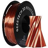 GEEETECH PLA filamento 1.75mm Seda Cobre, Impresora 3D Filamento PLA 1kg Carrete