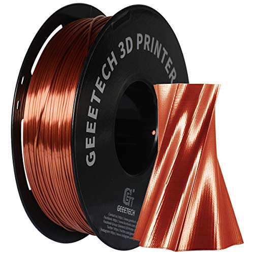 PLA Filament 1.75mm Silk, Geeetech 3D Printer PLA Filament,1.75mm,1kg per Spool,Silk Copper