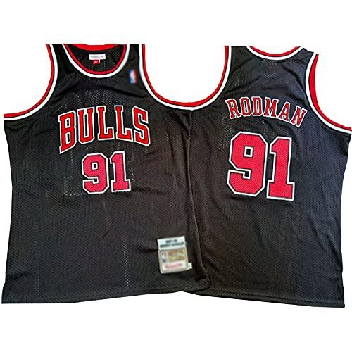 ZRBP # 91 Bulls Rodman Uniformes de Baloncesto para Hombres, Uniformes de Equipo, Camisetas Deportivas, Chalecos, Blusas sin Mangas, Letras y números Personalizados suelt M