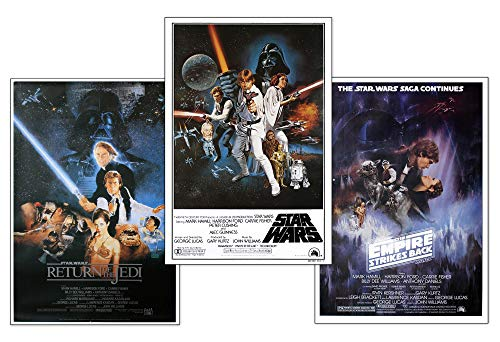 Close Up Star Wars Posterset Filmplakat Episode IV - VI (61cm x 91,5cm)