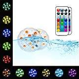 Pool Lights Submersible LED Lights - EFX Led Lights Waterproof Underwater Floating Pool Lights for Swimming Pool, Hot Tub, Pond, Fountain, Waterfall, Aquarium, Spa, Party, Vase Base, Christmas, 2pack