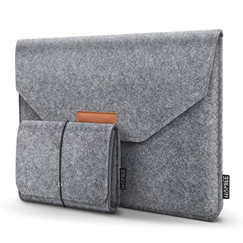 HOMIEE 15 Inch MacBook Pro Sleeve Protective Laptop Case for 16 Inch MacBook Pro 2019, 15 Inch MacBook Pro 2015-2019, Dell XPS 15/ Inspiron 7000 Pro 15.6, HP Envy X360, Shockproof Bag, Light Gray