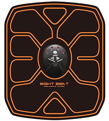 Aitec Japan Eight Beat! L'elettrostimolatore Giapponese a 8 contatti per Addominali Sempre al Top! Completamente Senza Fili con 10 Livelli di intensità e 6 programmi Portatile e Compatto 961782