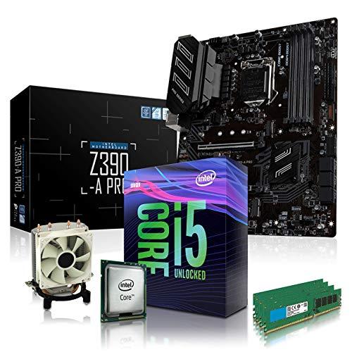 dcl24.de PC Aufrüstkit [12480] Intel i5-9600KF 6x3.7 GHz - 32GB DDR4, Z390-A Mainboard Bundle Kit, ohne onBoard Grafik, eigenständige Grafikkarte notwendig