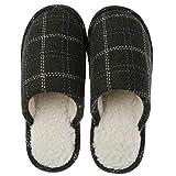 Rojeam Zapatillas de Cachemir cálidas de Invierno con Pompones Botas de Felpa Retro para Interiores y Exteriores para Mujeres y Hombres