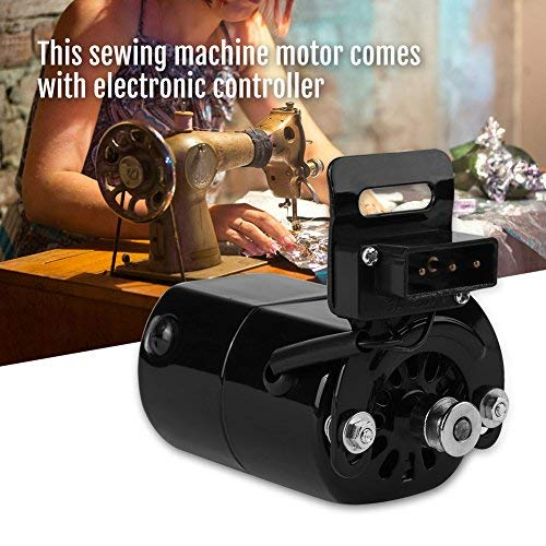 HEEPDD 220V 100W Motor de máquina de Coser doméstica para Brother # J00360051 7000 RPM K-Bracket 0.5 Amp