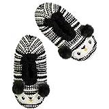 Fuzzy Babba womens Fuzzy Babba Women's Comfy Knitted Slipper Sock, Happy Penguin/Black - 001hp, M L fits Shoe Size 8-10.5 US