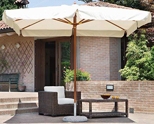 vorghini Ombrellone da Giardino in Legno 3X2m De Lux Ecrù