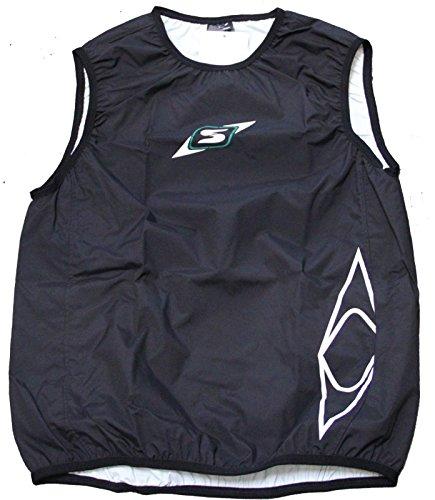 Sandiline Paddelweste Gilet Sprint Arme Kanu Kajak SUP Training Touren, Farbe:schwarz, Größe:L
