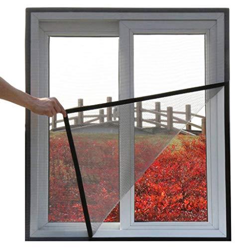 Magnetisch vliegengaas voor ramen, insectenwerende horren voor ramen, insectenwerende horren 140x160Cm(55x63Zoll) grijs
