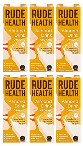 Rude Health Organic Almond Drink, 1 Litre (Pack of 6)