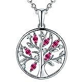 JO WISDOM Halskette Baum Des Lebens,kette anhaenger silber 925 baum des lebens Anhänger Halskette,Damen...