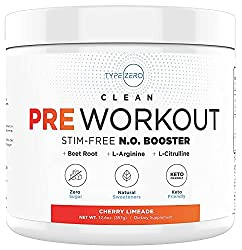 Type Zero Clean N.O. Booster best preworkout supplement with beet powder