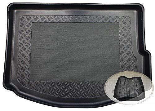 ZentimeX Z3080245 Antirutsch Kofferraumwanne fahrzeugspezifisch + Klett-Organizer (Laderaumwanne, Kofferraummatte)