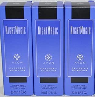 3 Bottles -Avon Night Magic Cologne Spray/ Perfume for Her