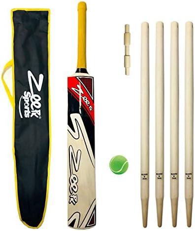 Zeepk Sports Cricket Bat Kit for Junior Kids Net Practice Tennis Ball Tape Ball Handcrafted product image