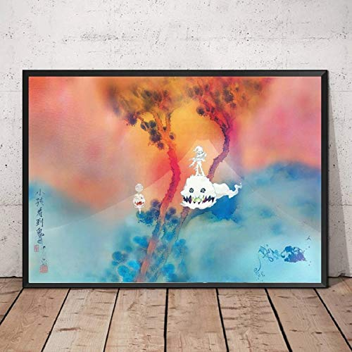 qianyuhe Impresión en Lienzo Kanye West & Kid Cudi Kids See Ghosts Hot 2018 Music Album Poster Art Silk Light Canvas Modern Home Room Wall Print Decor 60x90cm