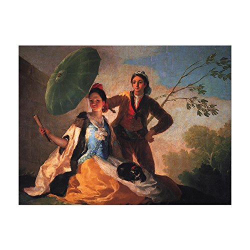Kunstdruck Poster - Francisco de Goya Der Sonnenschirm 40x30 cm ca. A3 - Alte Meister Bild ohne Rahmen