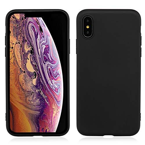 Brand.it Monkey - iPhone XS Hülle aus TPU Silikon   Schutzhülle, Handyhülle, Slim Hülle   sehr leicht   Ultra dünn   Wireless Charging - Schwarz Matt