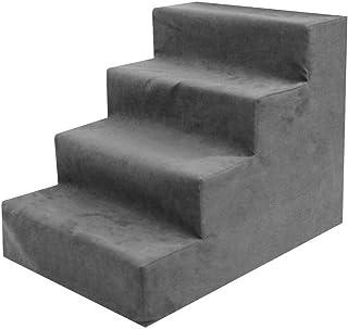 MercuryGo 床踏板 狗用踏板 床上用品 ?物用品 狗用踏板 3段 4段 防受? 防滑 高密度?芯 可洗 ?理 安全 耐用 舒? (グレー4層(高さ40cm))