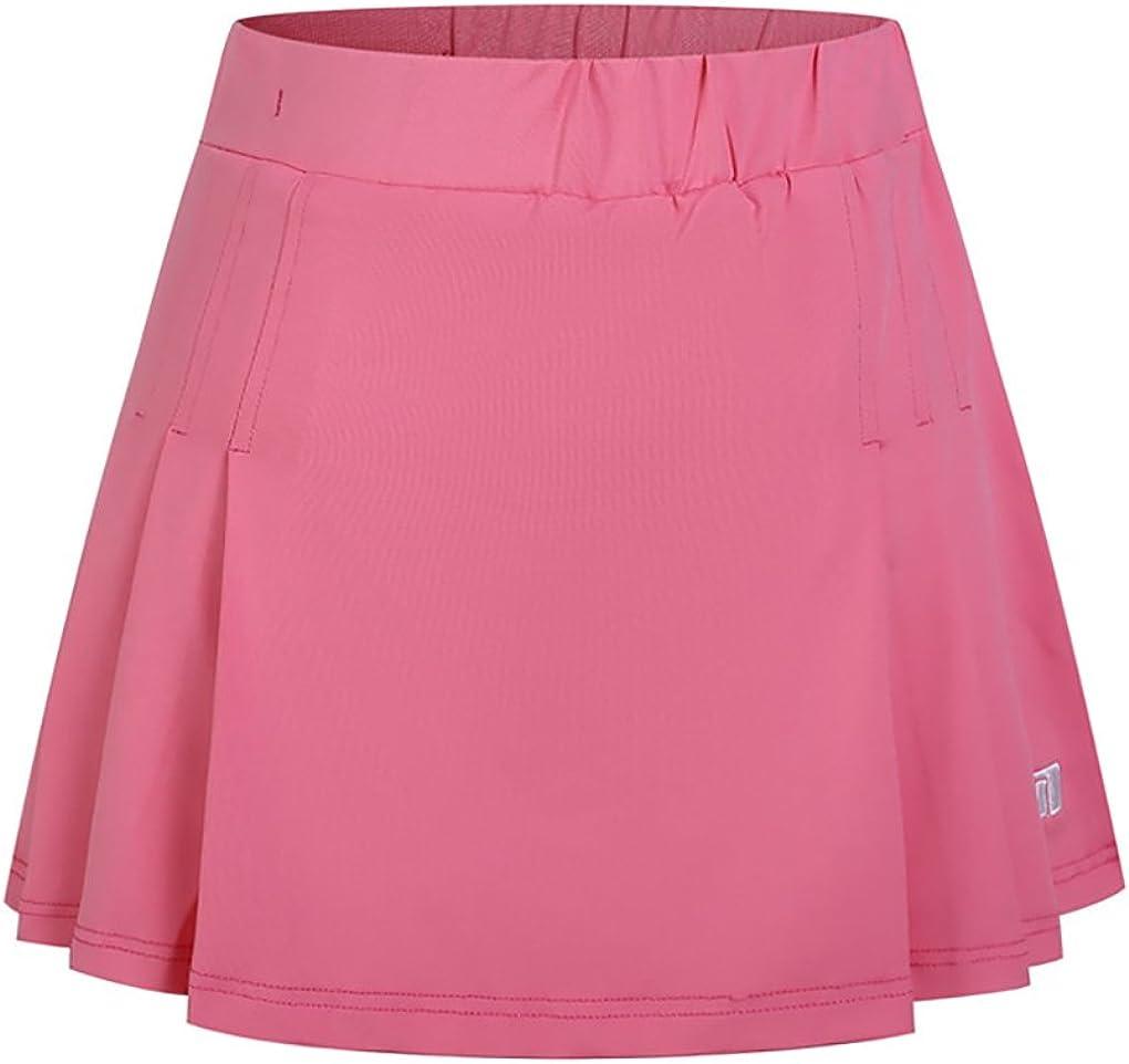 Miqieer Women's Golf New York Mall Skort Tennis Skirt with 5 popular Inne Shorts Running