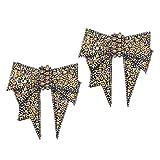 B Baosity 1 Par Clip de Zapatos Nupciales Forma de Lazo Broche de Sandalias con Diamantes Artificiales Adorno de Encanto para Boda Fiesta - Oro