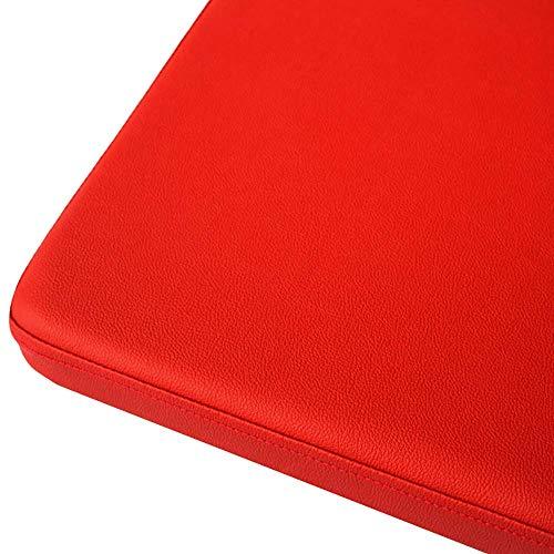 DJ, stoelkussen, Pu leer, verdikte vierkant, eenkleurig, waterdicht zitkussen met ritssluiting voor sofa, auto, kantoor, douchekussen-oranje, 40x40x5cm (16x16x2inch)
