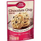 Betty Crocker Baking Mix, Chocolate Chip Cookie Mix, Snack Size, 7.5 Oz Pouch (Pack of 9)...
