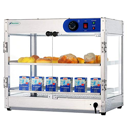 Commercial Countertop Hot Food Warmer Display Case Food Showcase for Restaurant Heated Empanda Pastry Cabinet Pizza Patty With Removable Shelves (24 inchW X 20 inchL X 15 inchH)