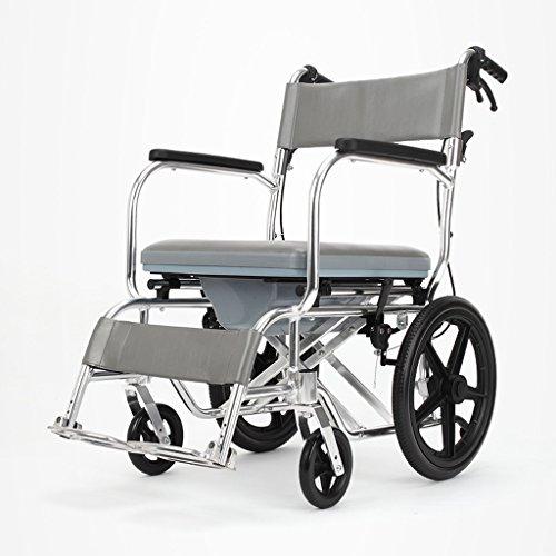 RENJUN Silla plegable fuerte y estable para inodoro acolchada para personas mayores/embarazadas/discapacitadas para mover el orinal silla polea silla de baño
