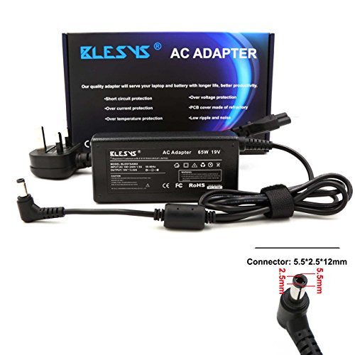 BLESYS AD883220 PA-1650-78 PA-1650-66 Laptop Charger for ASUS X555L X555LA F555L R555L F555LA X555 X555S X555LD X555LJ AC Adapter Pin Size 5.5*2.5mm Power Supplies Compatibility with 19V 2.37A 45W