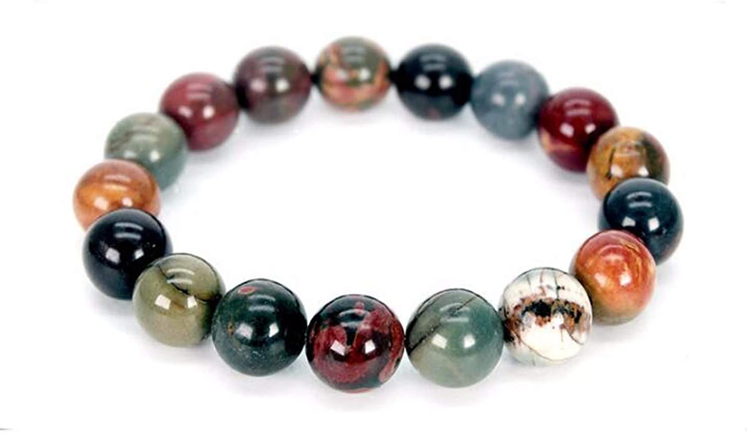 Zicue Stylish Charming Bracelet Exquisite Ornaments Agate Stone Beads Hand String Female Retro Art Simplicity National Style Accessories Bracelet Male ( color   17cm )