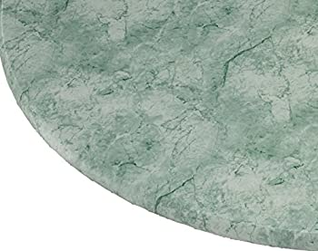 Miles Kimball Marbled Vinyl Elasticized Table Cover 45  - 56  Dia Round