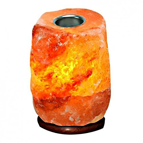 Himalayan Salt Essential Oil Diffuser by Pure Salt Co - Hand Carved Natural Crystal Lamp - Aromatherapy Salt Lamp 5-7 lb with One Bulb and Dimmer Bundle