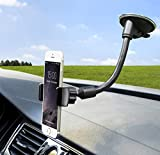 Windshield Phone Car Holder Universal Car Phone Holder Mount Strong Suction Cup Phone Holder for Car Windshield Car Phone Mount Compatible with iPhone Samsung Smartphone Cell Phone Stand for Car-Black