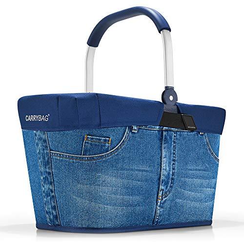 reisenthel Angebot Einkaufskorb carrybag Plus passendes Cover Sichtschutz Abdeckung (Jeans)