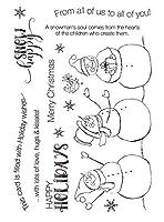 雪だるま透明クリアシリコンスタンプ/DIYスクラップブッキング用シール/フォトアルバム装飾用クリアスタンプシートA2154