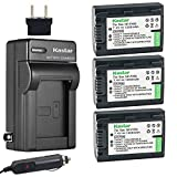 Kastar Battery (3-Pack) + Charger for Sony NP-FH50, NP-FH40, NP-FH30 and DSLR-A230, DSLR-A330, DSLR-A290, DSLR-A380, DSLR-A390, HDR-TG1E, HDR-TG3, HDR-TG5, HDR-TG7, DSC-HX1, DSC-HX200,DSC-HX100V