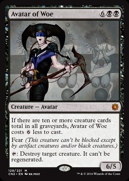 Magic The Gathering - Avatar of Woe (128/221) - Conspiracy 2: Take The Crown