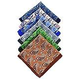 NJZYB 5pcs / set accesorios hombre hanky bolsillo cuadrado pañuelo pañuelo de pata de gallo a juego (Color : A-Multicolor, Size : 9.83 * 9.83 inch)