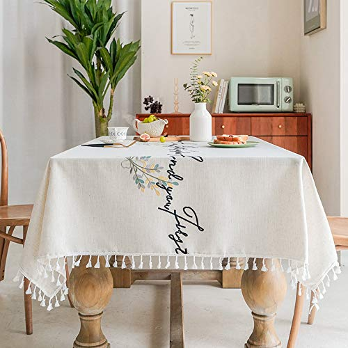 PhantasyIsland.com Tovaglia Tessuto Tovaglia Cotone Domestico Semplice Tavolino Tovaglia 110 * 170cm