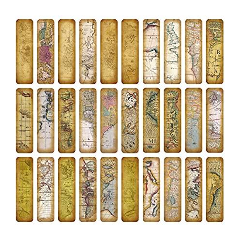 Segnalibri, Lychii confezione segnalibri stile vintage, 30 pezzi Segnalibri in carta vintage Segnalibri in carta dal design retrò