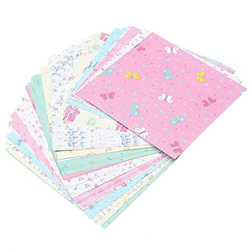 Vikenner 72 Piezas Manualidades de Papel para Origami Set Plegado Papel para Papiroflexia de Flor Hecho a Mano para proyectos de Manualidades Doble cara Cuadrado Papel - 15 * 15cm - Color Aleatorio