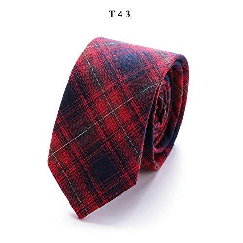 KDSXMLS Bedrucken Sie Dünne Krawatten Aus Leinen Und Baumwolle Für Herren Mit 6,5 Breiten Goom Slim-Krawatten. Hochwertige Krawatte Für Erwachsene